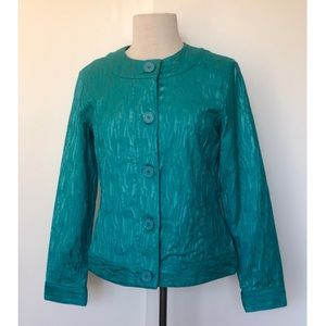 Chico's Textured Teal Jacket  *Chico's Size 0*